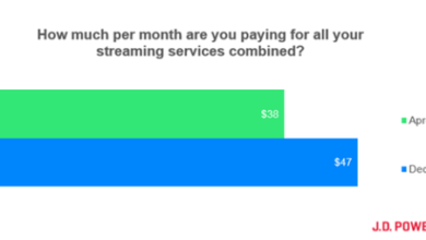 Photo of In 2020, Americans will spend an average of $47 a month on streaming services From J.D. Power