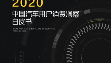 Photo of White paper on consumer insight of Chinese auto users in 2020 From Understanding chedi & great amount of calculation