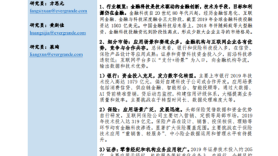 Photo of China financial technology report 2020 From Evergrande Research Institute