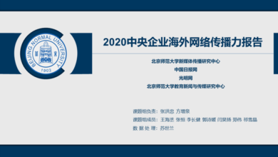 Photo of Report on overseas network communication power of central enterprises in 2020 From School of Journalism and communication, Beijing Normal University