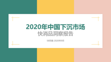 Photo of Insight report of FMCG in China's sinking market in 2020 From 58 Tongzhen
