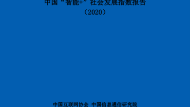 """Photo of China's """"smart plus"""" social development index in 2020 From China Internet Association & Communication Institute"""