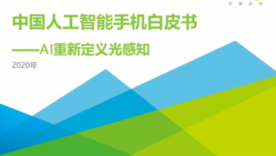 Photo of 2020 white paper on China's artificial intelligence mobile phone From IResearch consulting
