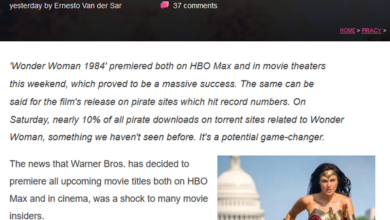 Photo of BT traffic of pirated resources of wonder woman 1984 accounts for 10%, a record From Apptopia