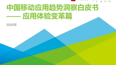 Photo of White paper on China's mobile application trend in 2020 From IResearch consulting