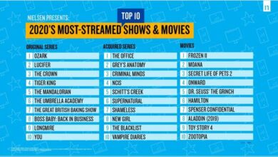 Photo of The most popular content list of American streaming media platforms in 2020 From Nielsen