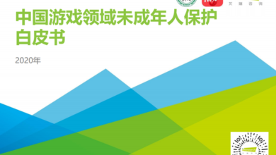 Photo of White paper on the protection of minors in China's game field in 2020 From IResearch consulting