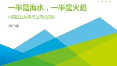 Photo of Research Report on China's online education industry in 2020 From IResearch consulting