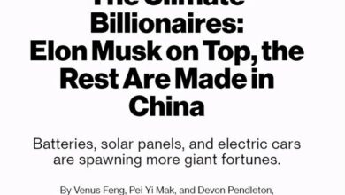 Photo of The top 15 green energy fortune billionaires are Chinese entrepreneurs, accounting for 12