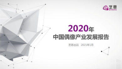 Photo of 2020 China idol Industry Development Report From Yi en