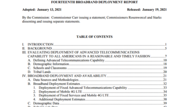 Photo of Annual broadband deployment report of the United States in 2021 From FCC