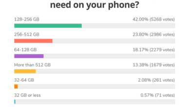 Photo of The survey shows that most people want their mobile phones to have 128gb-256gb memory From GSMArena