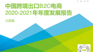 Photo of Annual development report of China's cross border export B2C e-commerce in 2020-2021 From IResearch consulting