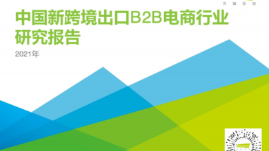 Photo of Research Report on China's new cross border export B2B e-commerce industry in 2021 From IResearch consulting