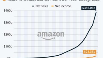 Photo of Net sales growth of 38% in 2020 From Amazon