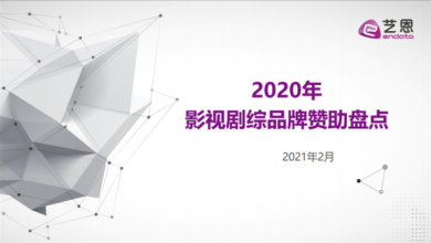 Photo of Review of brand sponsorship of film and TV series in 2020 From Yi en